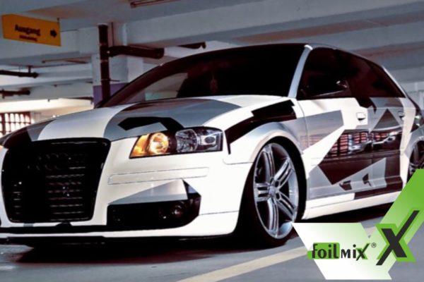 Audi mit Folie foliert