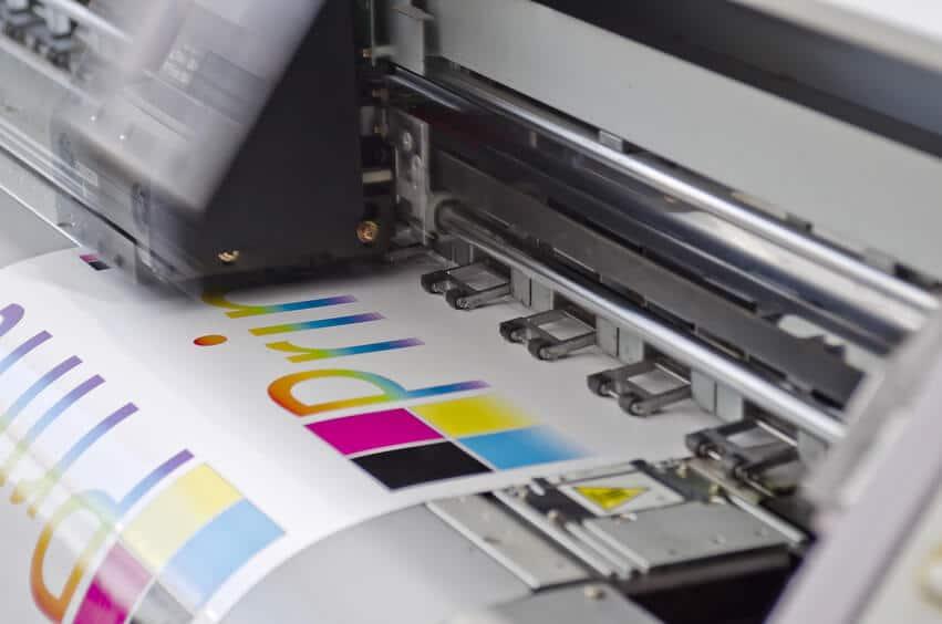 Digitaldrucker im Einsatz